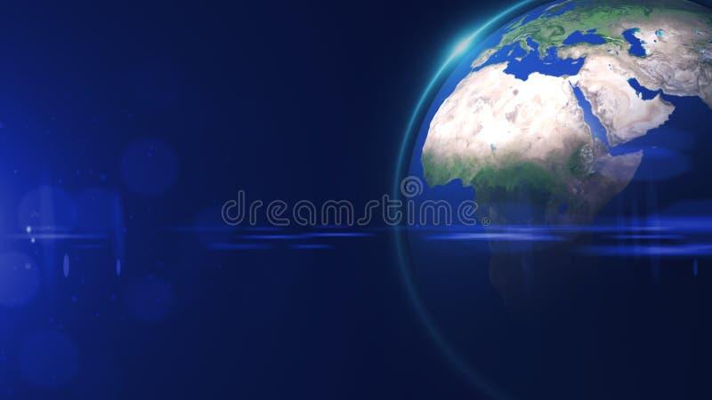 La vue d'?toile du monde ou le globe 3D de l'espace dans le domaine d'?toile montre la composition de cette image d?cor?e par la  illustration stock