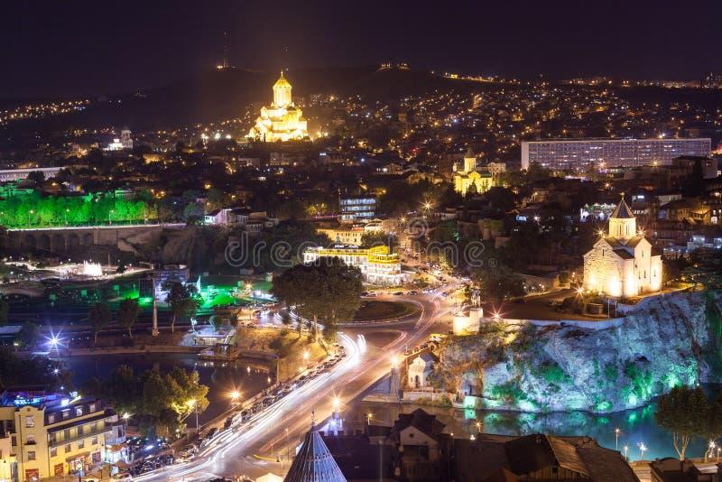 La vue de l'oiseau de Tbilisi images libres de droits