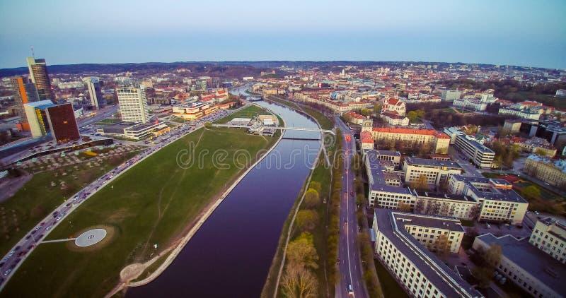 La vue de l'oiseau de Vilnius photos stock