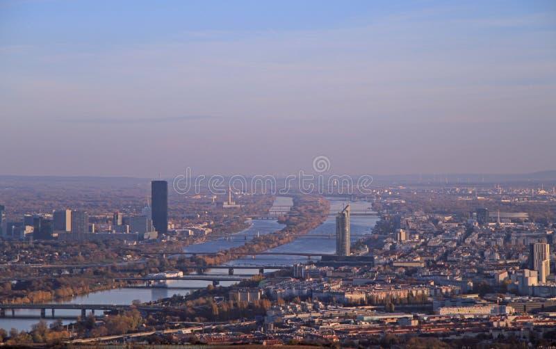 La vue de la capitale autrichienne Vienne images libres de droits