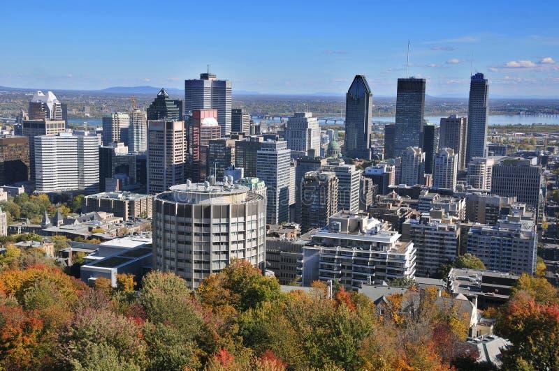 La vue de la ville de Montréal photographie stock libre de droits