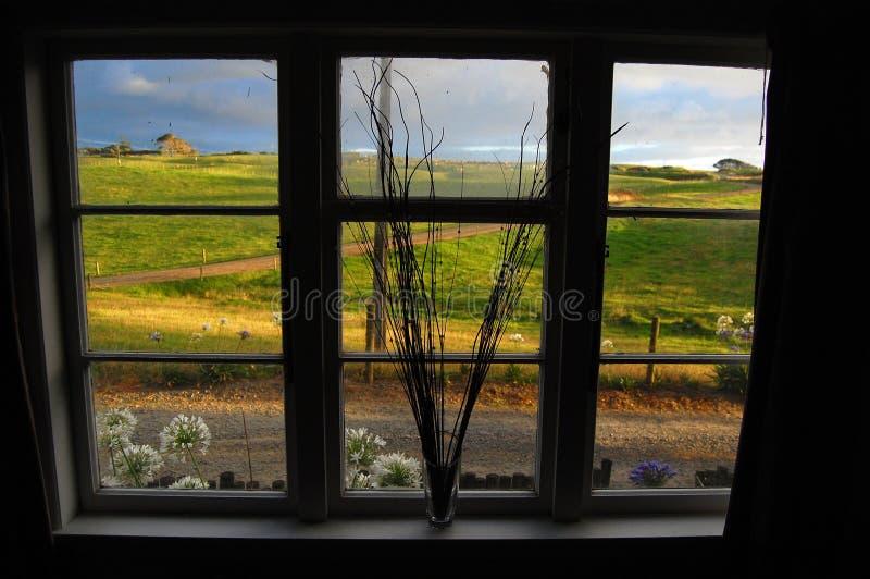 Vue de zone rurale de fenêtre photo libre de droits
