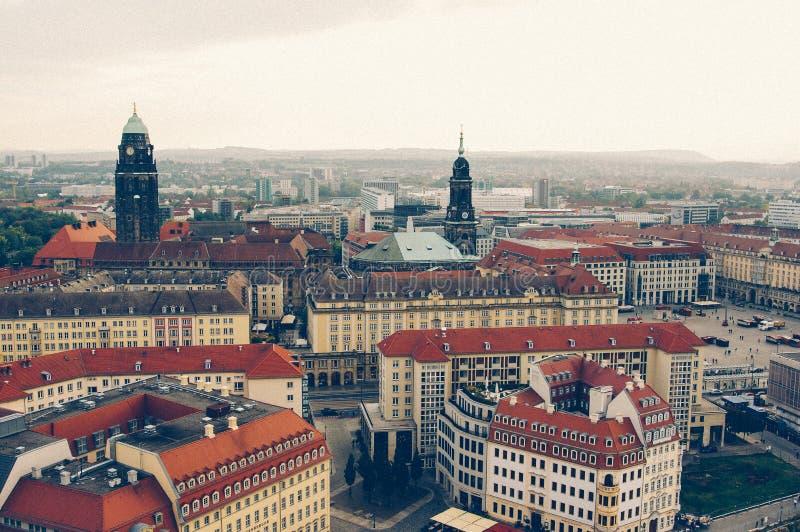La vue de panaroma de la vieille ville de Dresde en Allemagne l'Europe photos stock
