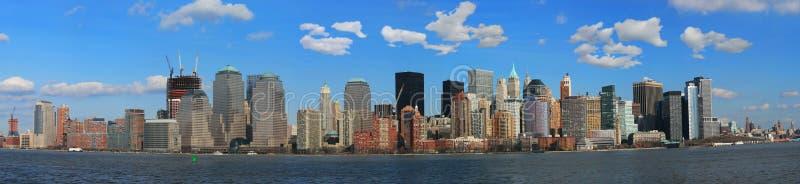 La vue de panorama de l'horizon de Lower Manhattan image stock