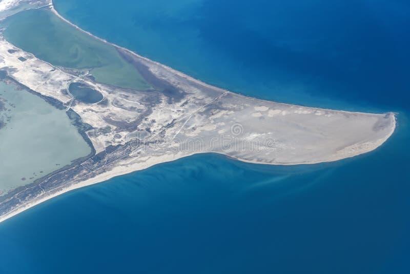 La vue de la taille du banc de sable sur la côte du sud de la Turquie image stock