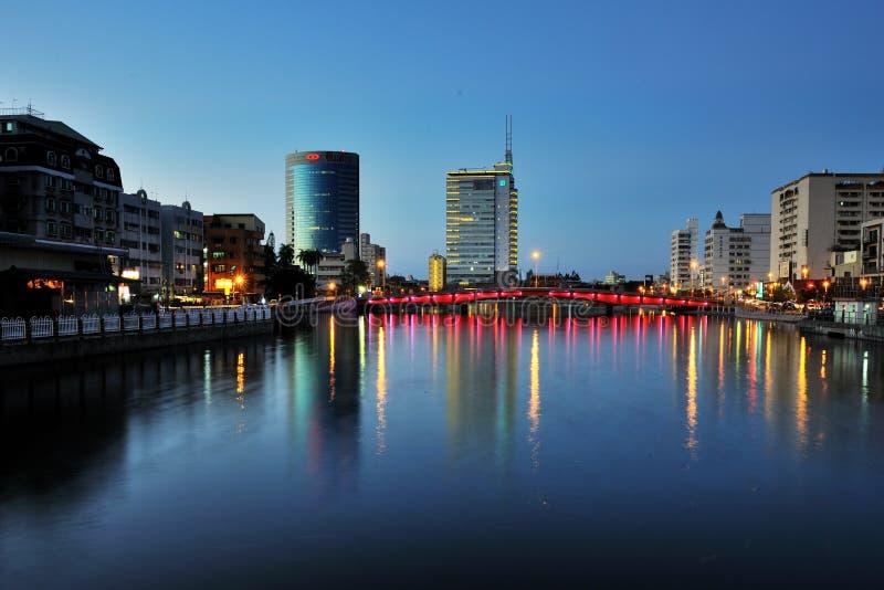 La vue de ville à Tainan image stock