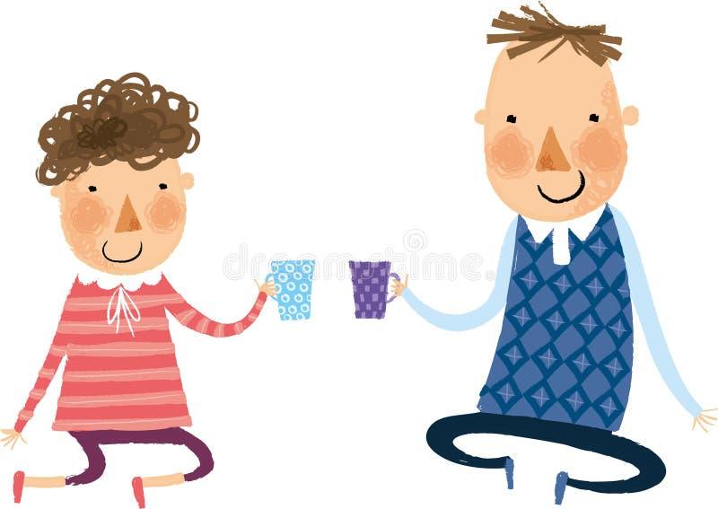 La vue des couples illustration stock