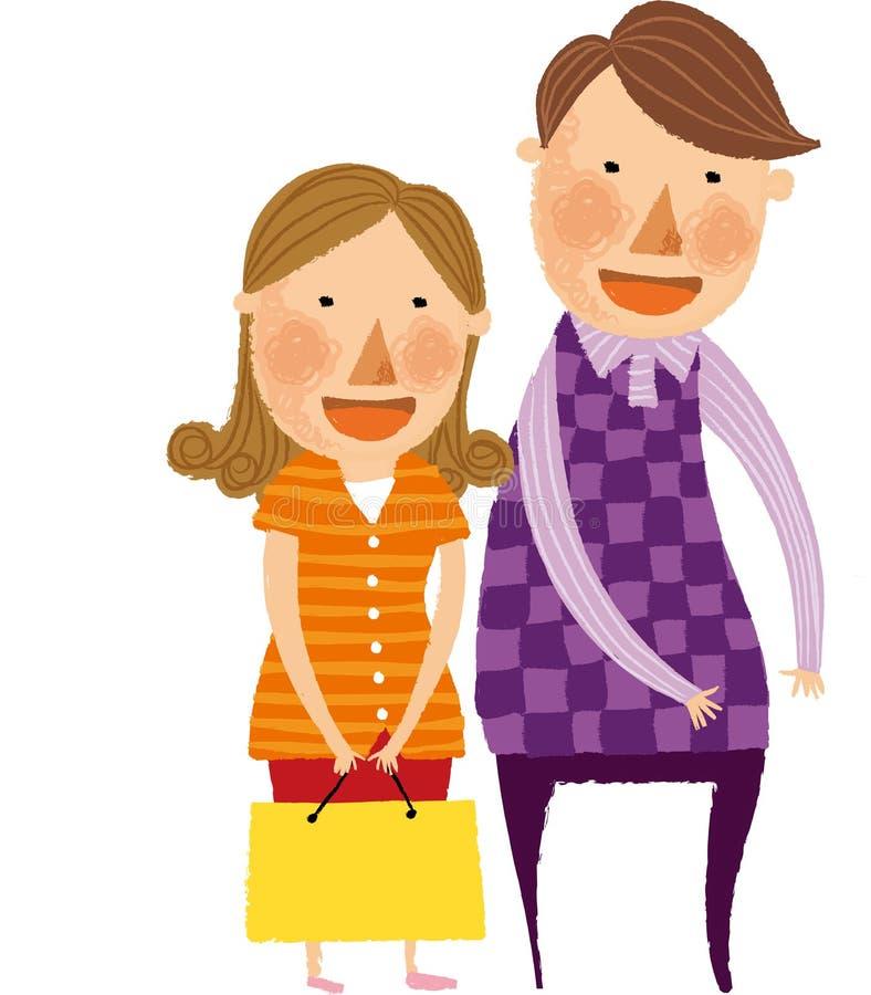 La vue des couples illustration de vecteur