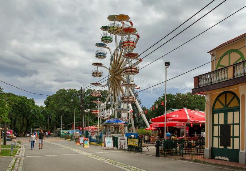 La vue des ferris géants roulent en parc de Bohème de Prater Secteur de Favoriten, Vienne, Autriche image stock