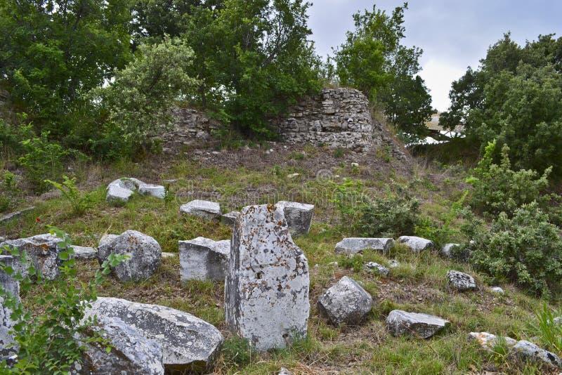 La vue des ruines de Troie photo libre de droits