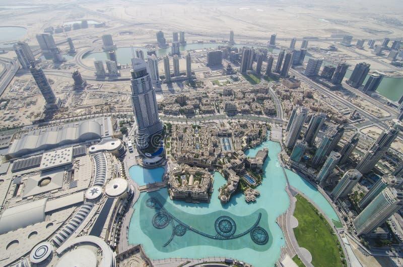 La vue du khalifa de burj photos libres de droits