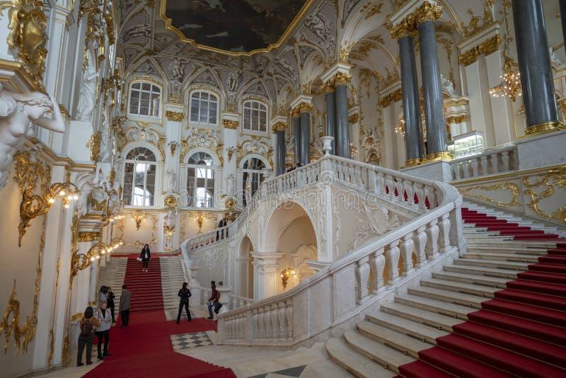La vue du palais d'hiver images stock