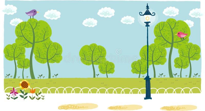 La vue du parc illustration de vecteur
