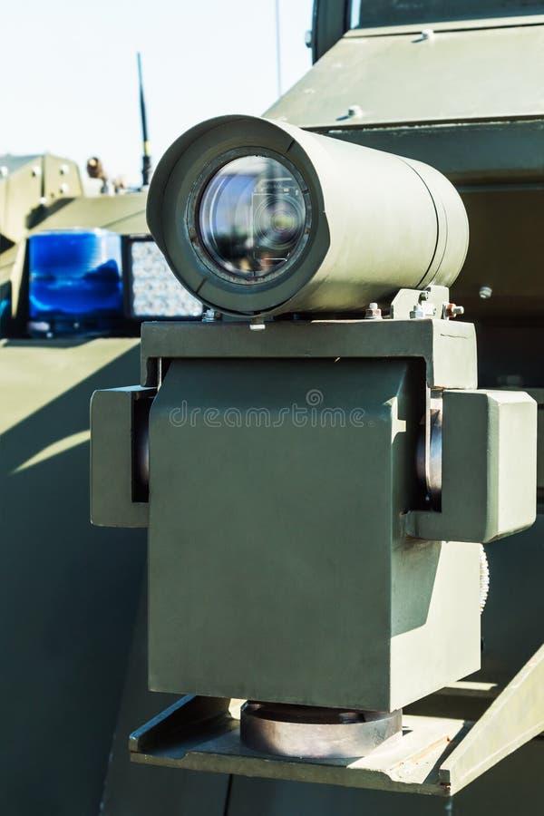 La vue et le télémètre de laser ont monté sur des militaires images libres de droits