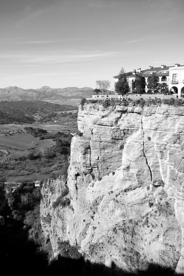 La vue inspiering de cliffside de Rhonda images libres de droits
