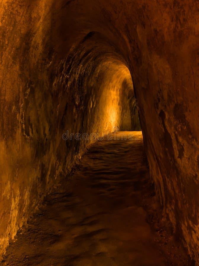 Tunnel de Chi de Cu - Saigon (Ho Chi Minh Ville) image libre de droits