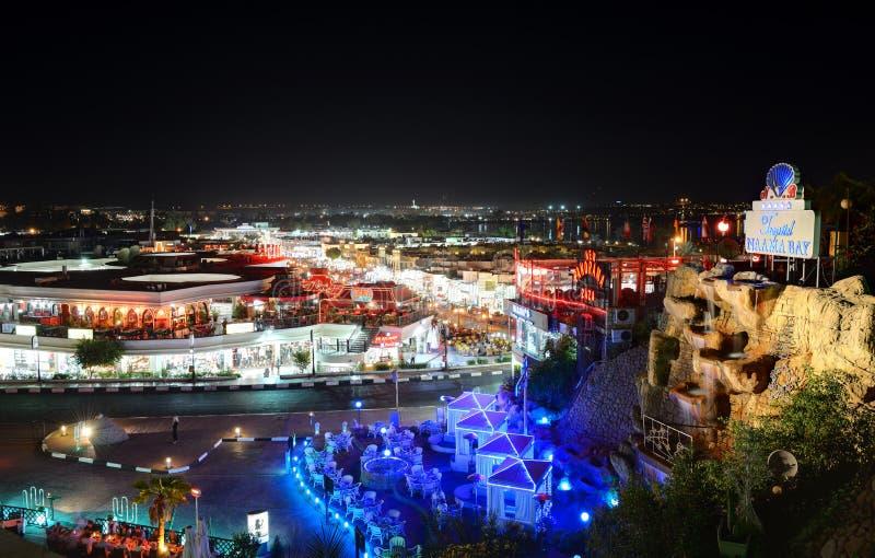 La vue la vie de nuit en Naama Bay photo stock