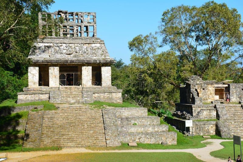 La vue Palenque ruine Chiapas Mexique images libres de droits