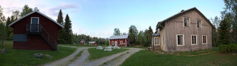 La vue panoramique de Spoekpraestgaard, un clergé hanté logent, dans Borgvattnet en Suède photographie stock libre de droits
