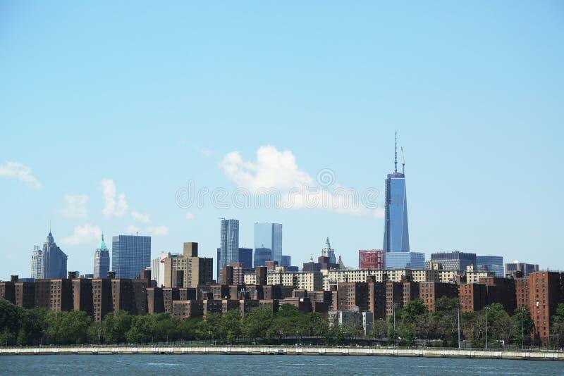 La vue panoramique sur la ville de Stuyvesant et abaissent le côté est à Manhattan photos libres de droits