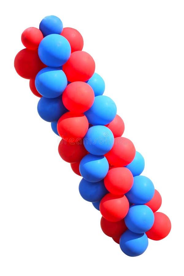 La vue, rendent des ballons à air ou des boules gonflables en caoutchouc transparents brillants de couleur, d'isolement sur le fo images stock