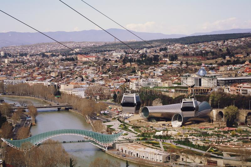 La vue scénique de Tbilisi, la Géorgie photographie stock