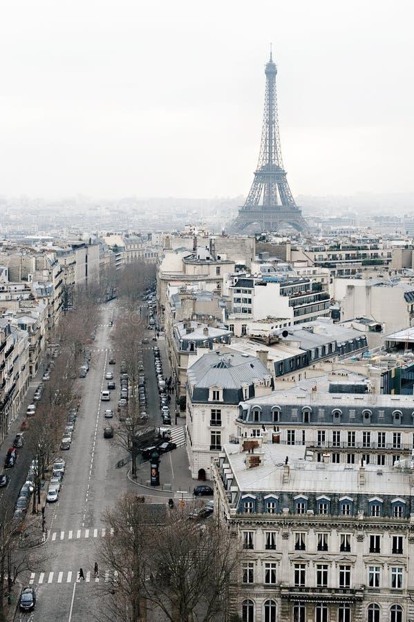La vue sur Paris, Les mâche Elysees images libres de droits