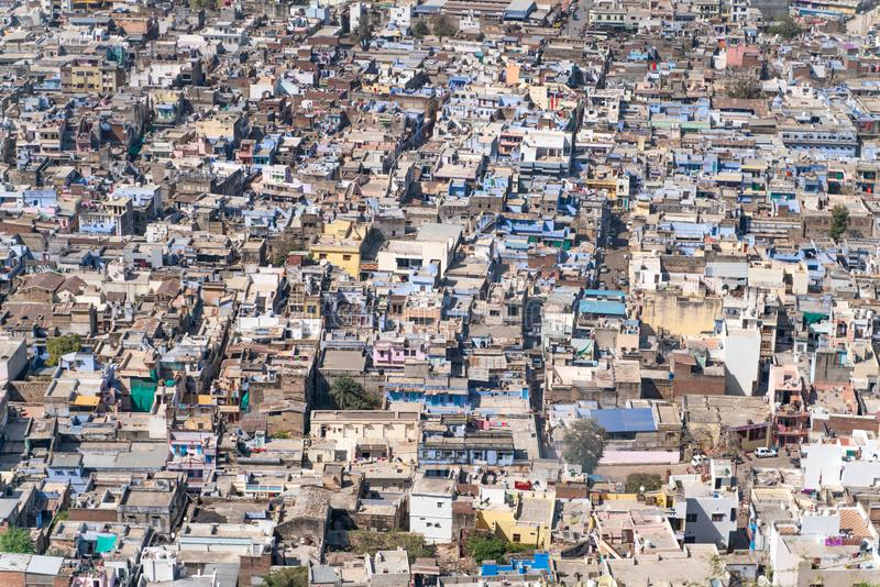 La vue sur la ville de Chittorgarh photographie stock libre de droits