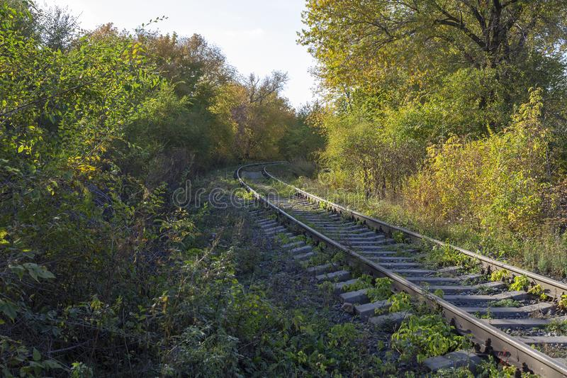 La vuelta del ferrocarril fotos de archivo