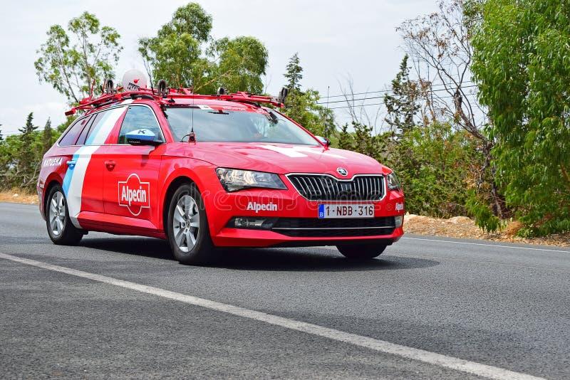 La Vuelta España do carro de Alpecine do katusha da equipe imagem de stock royalty free
