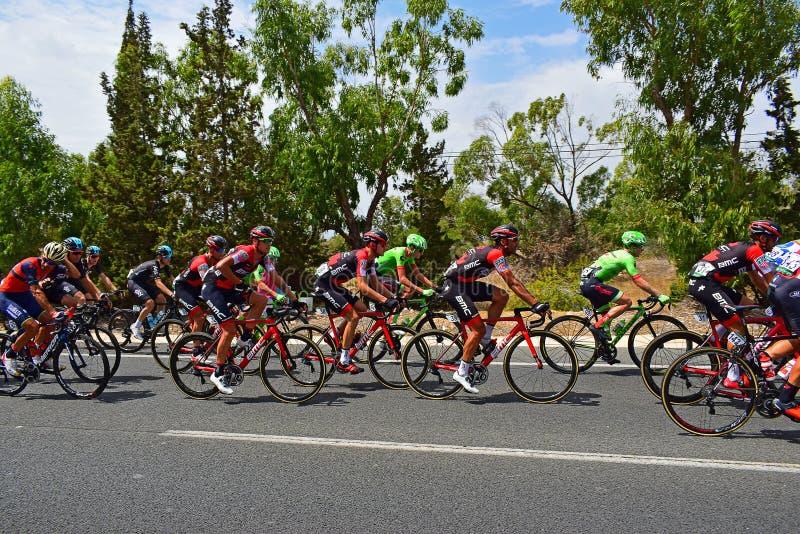 La Vuelta España van Peleton van het cyclusras royalty-vrije stock fotografie