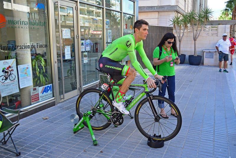 La Vuelta España Pierre Roland Cannondale Drapac royaltyfri bild