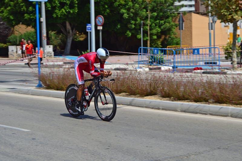 La Vuelta España TT Team Korfidis Rider arkivfoton