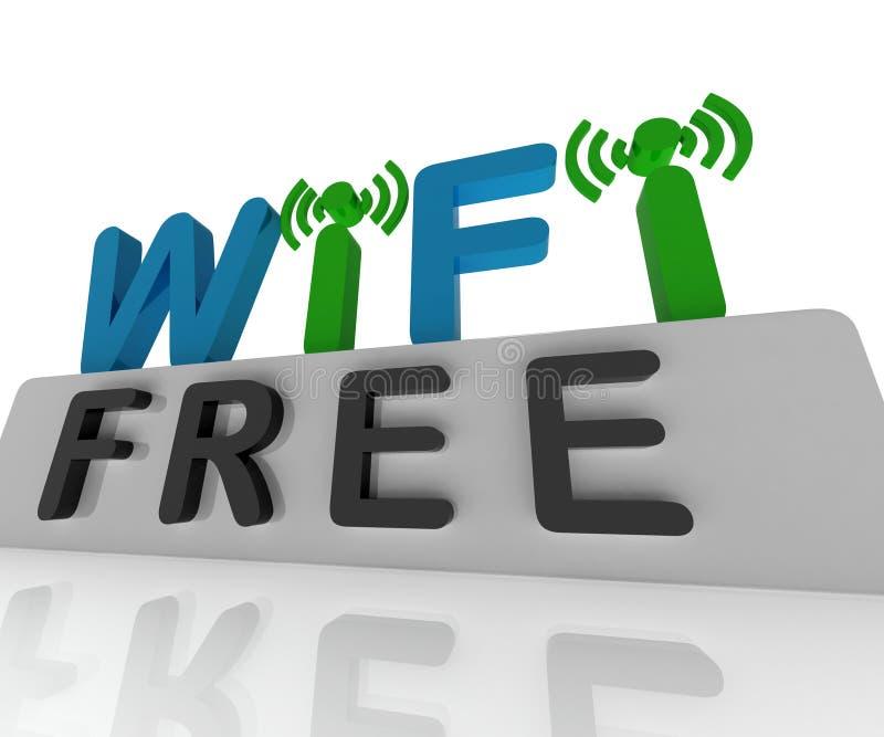 La W-IFI libre muestra la conexión del web y apuroses móviles ilustración del vector