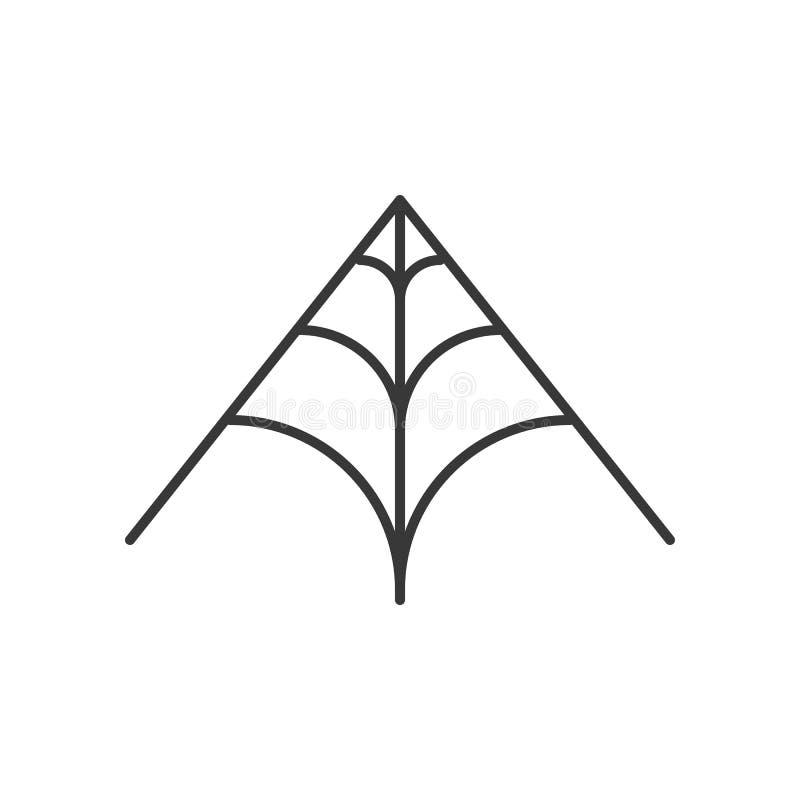 La web de araña, Halloweed relacionó el movimiento editable del icono ilustración del vector