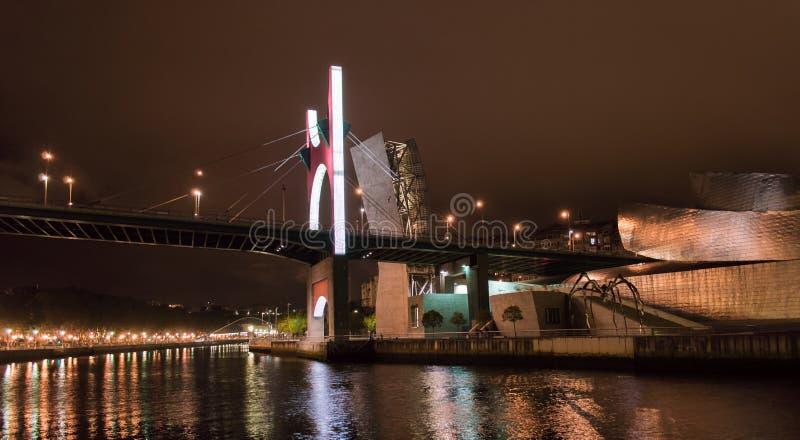 La-Wondzalfbrug in Bilbao royalty-vrije stock fotografie