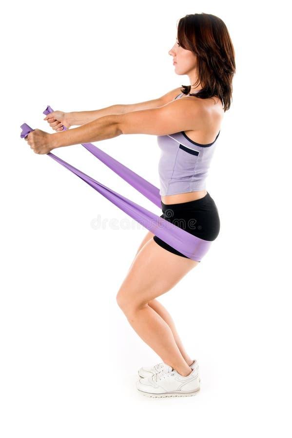 La yoga de la venda del estiramiento se resuelve imagen de archivo libre de regalías
