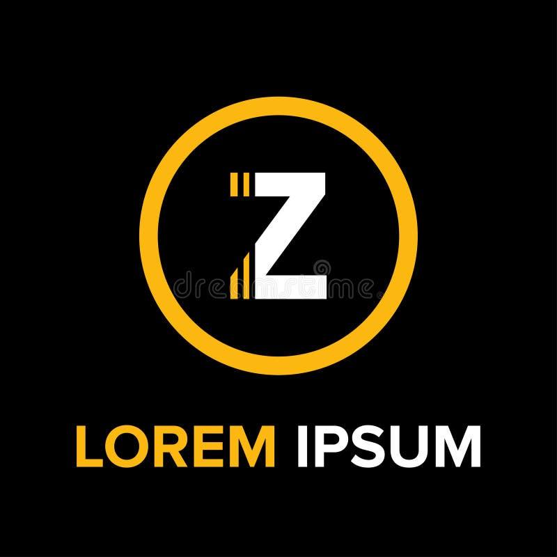 La Z segna il logo con lettere per l'affare fotografia stock