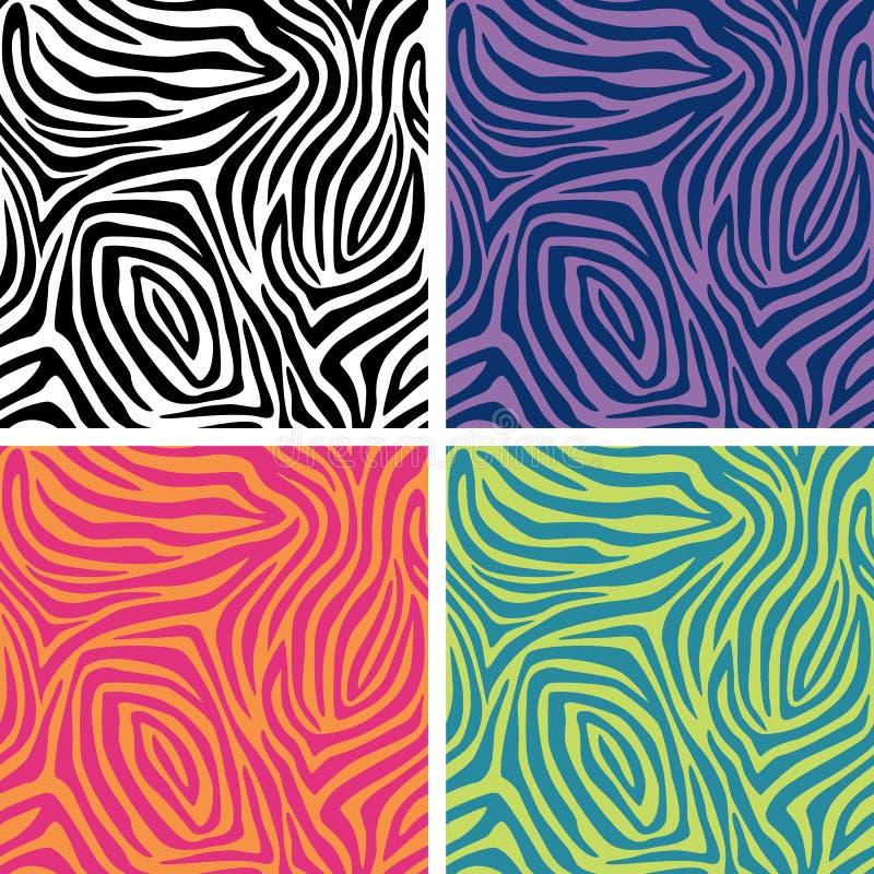 La zebra barra i reticoli illustrazione vettoriale