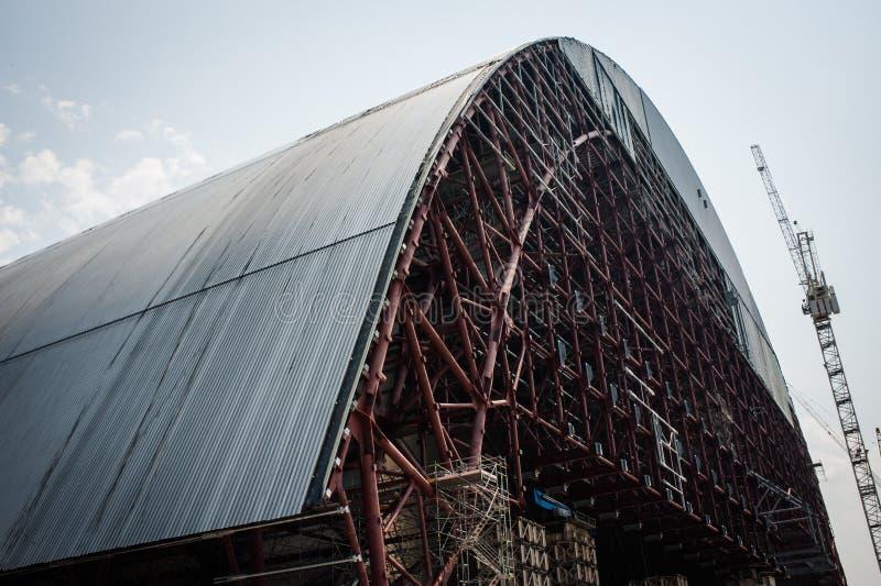La zona de la central nuclear de Chernóbil de la enajenación foto de archivo libre de regalías
