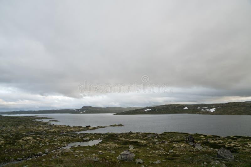 La zona di montagna di Hardangervidda immagini stock libere da diritti