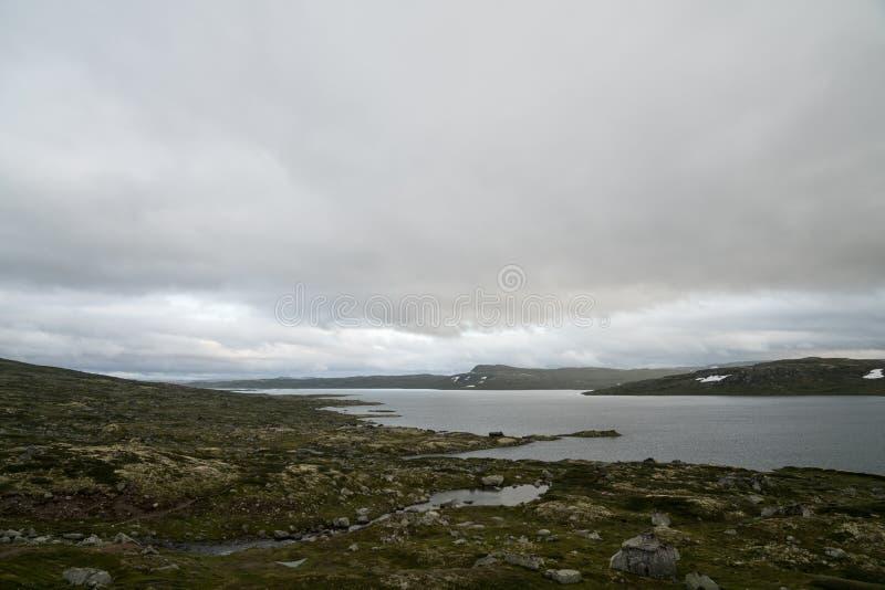 La zona di montagna di Hardangervidda fotografie stock libere da diritti