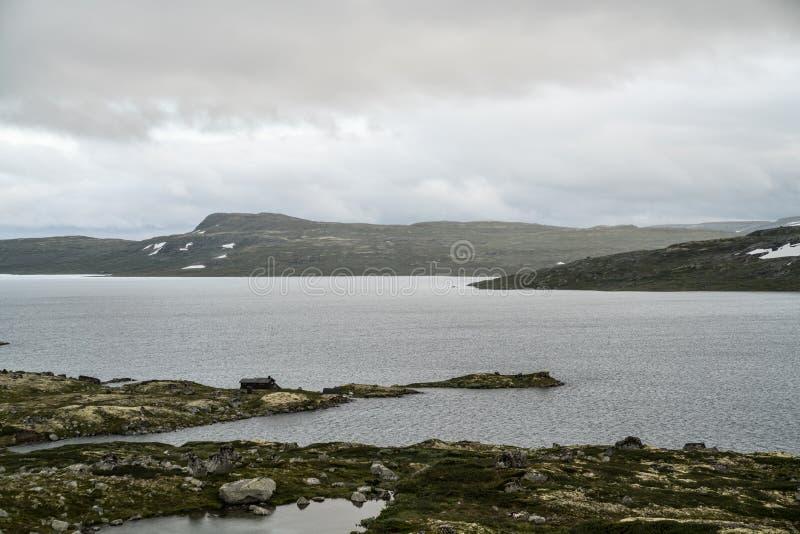 La zona di montagna di Hardangervidda fotografia stock