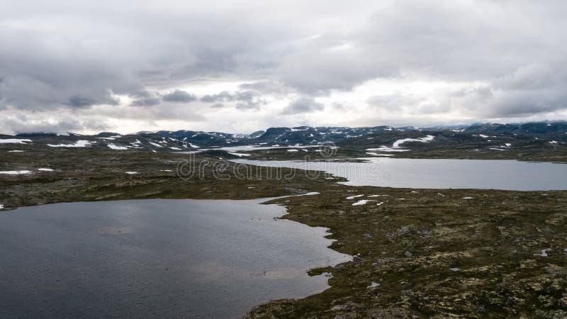 La zona di montagna di Hardangervidda fotografie stock