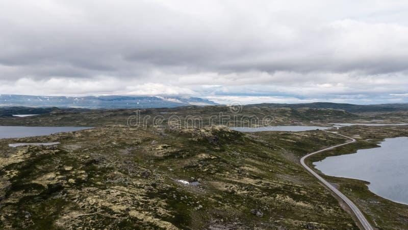 La zona di montagna di Hardangervidda immagine stock libera da diritti