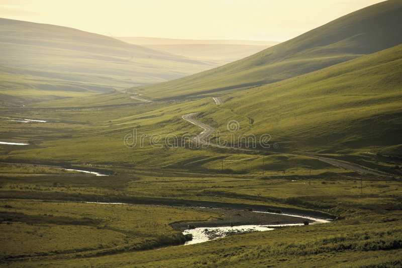 La zona di montagne cambriana della valle di slancio della b naturale eccezionale fotografia stock libera da diritti
