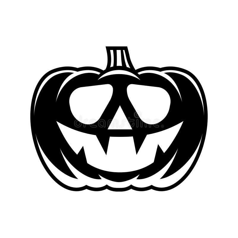La zucca di Halloween con la faccia felice illustrazione vettoriale
