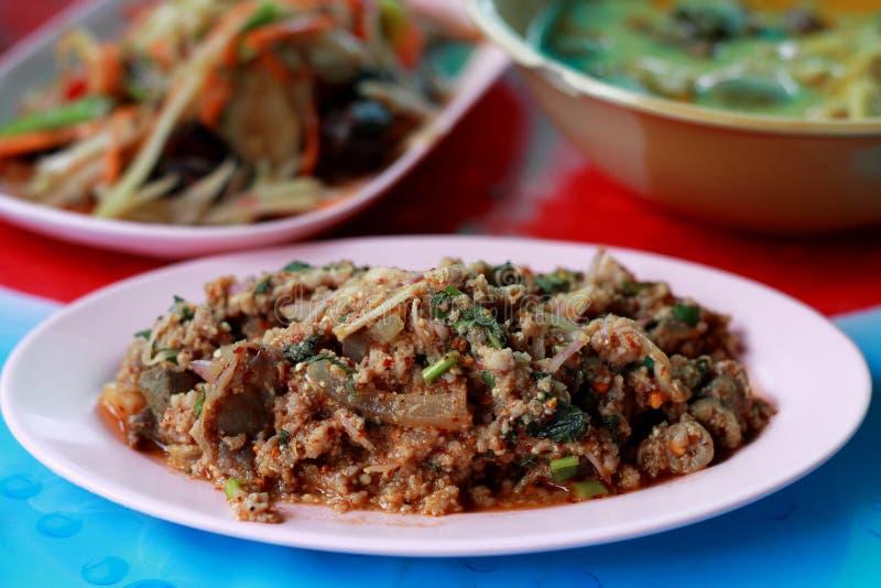 Laab - Tradycyjny Tajlandzki jedzenie obrazy royalty free