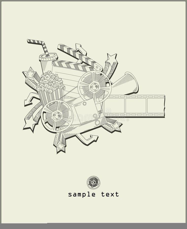 Laad de film - vector royalty-vrije illustratie