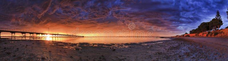 Laag de baaibed van SA Ceduna wijd stock afbeelding